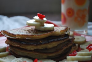 Banana Pancake with toppings