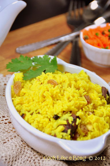 Basanti Pulao - Sweet Yellow Rice Pilaf | Cook like a Bong