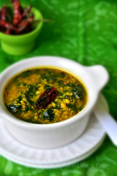 Dal Palang – Red Lentil with Spinach