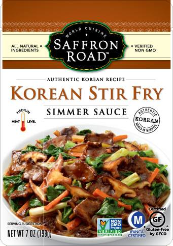 Saffron Road Food Korean Stir Fry Pouch