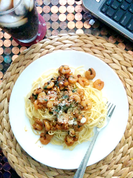 Angel Hair Pasta with Shrimp Scampi
